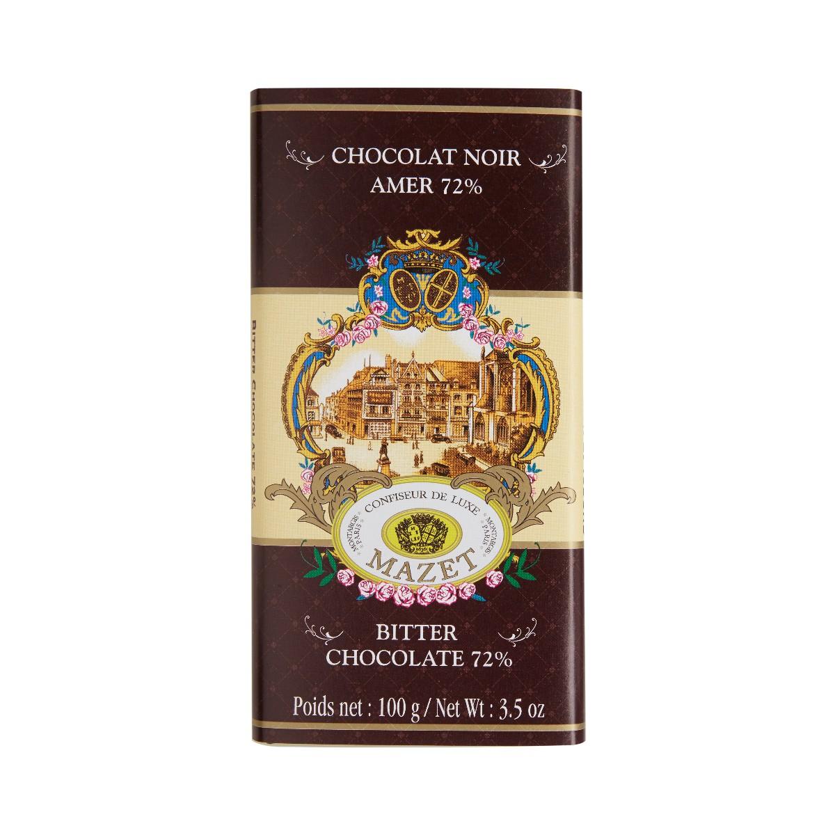 Tablettes de Chocolat - Tablette noir amer 100g