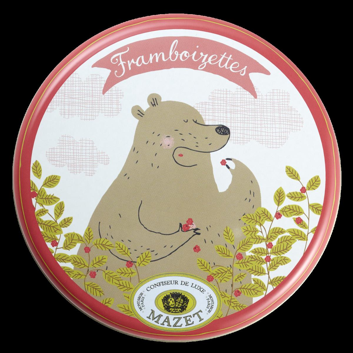Framboizettes - Boite ours, Framboizettes 65g