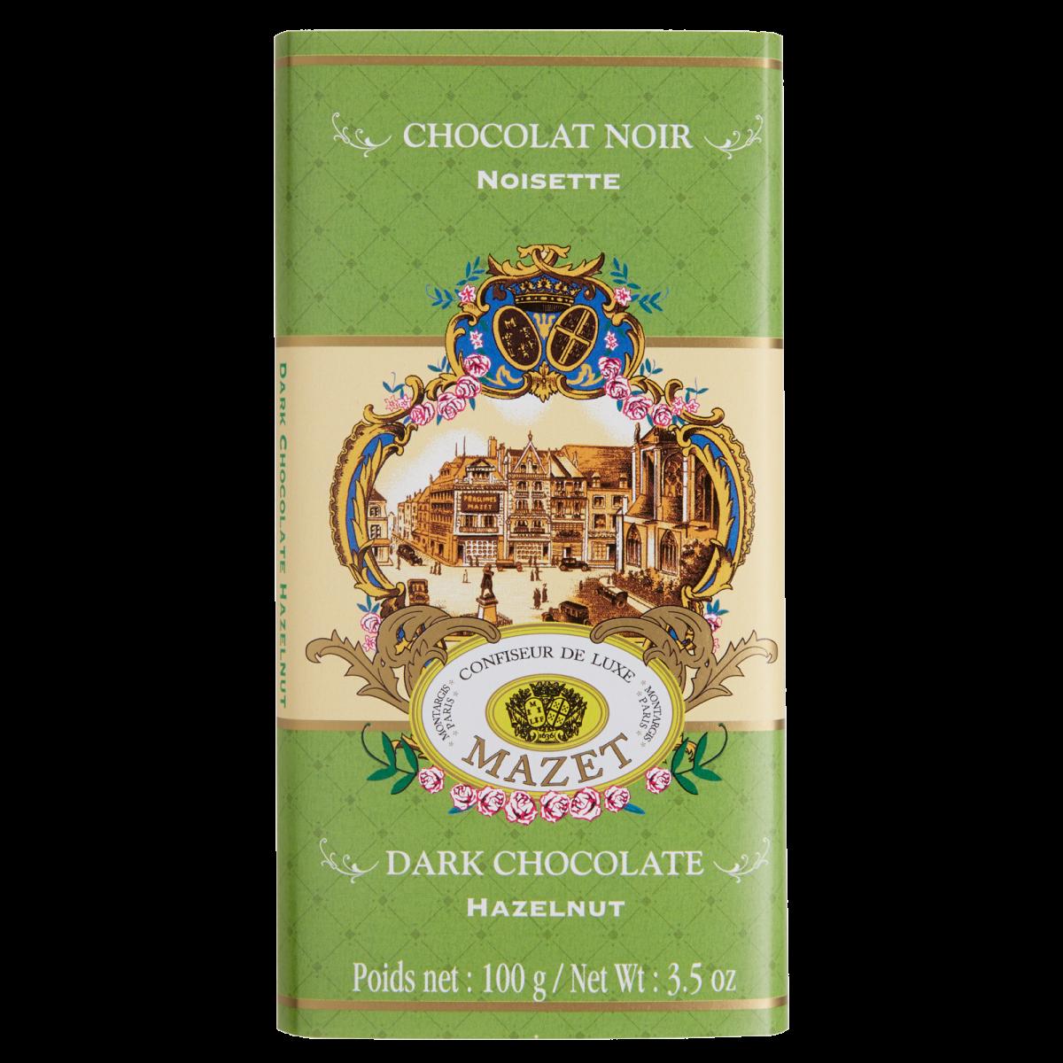 Tablettes de Chocolat - Tablette noir Noisette 100g