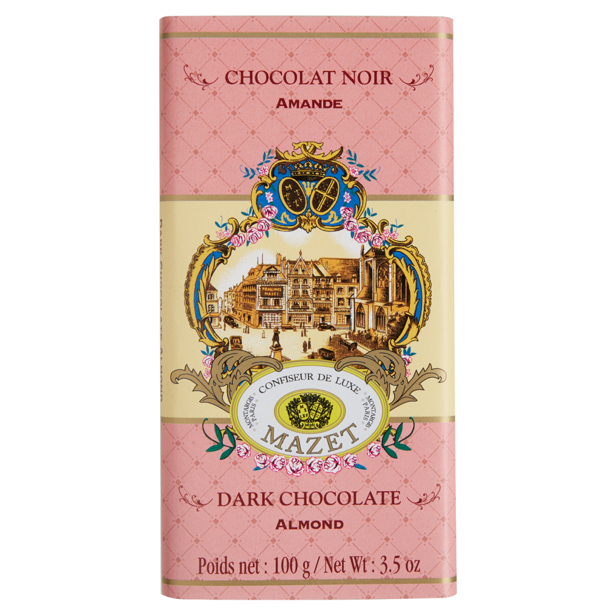 Tablettes de Chocolat - Tablette noir Amande 100g