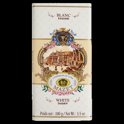 Tablette blanc ivoire 100g