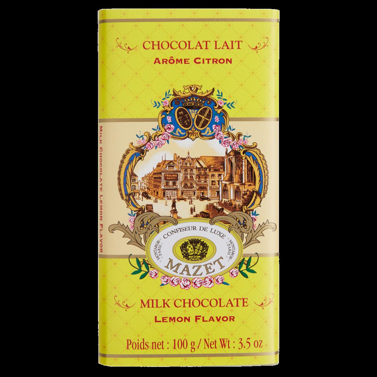 Tablettes de Chocolat - Tablette lait arome Citron 100g