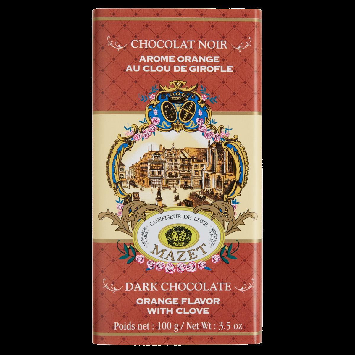 Tablettes de Chocolat - Tablette noir Girofle arome Orange...