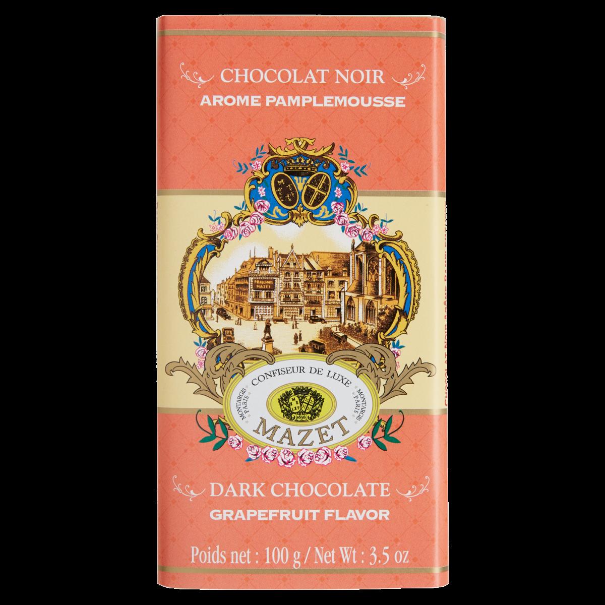 Tablettes de Chocolat - Tablette noir arome Pamplemousse...