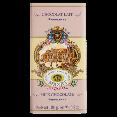 Tablette lait Praslines (pralines) 100g