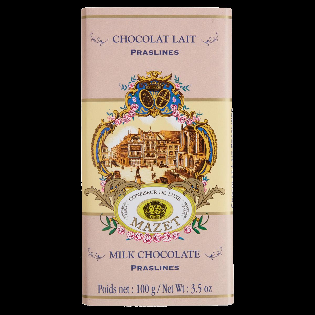 Tablettes de Chocolat - Tablette lait Praslines (pralines)...
