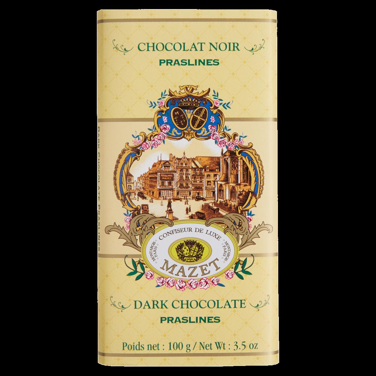 Tablettes de Chocolat - Tablette noir Praslines (pralines)...