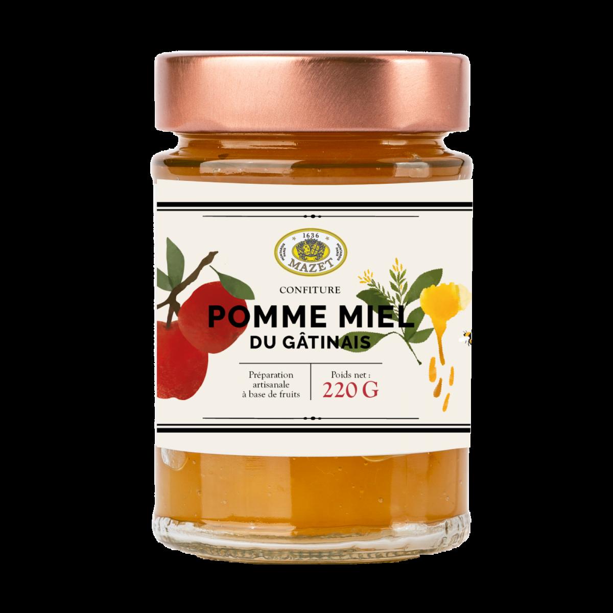 Confitures - Confiture pomme miel du Gâtinais 220g