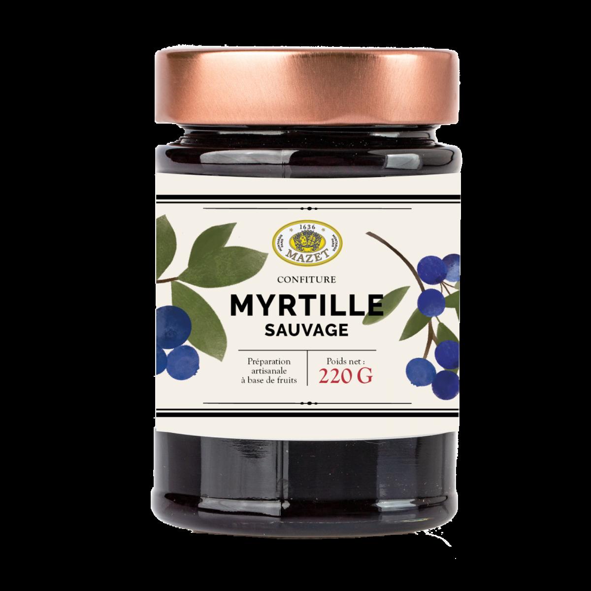 Confitures - Confiture myrtille sauvage 220g