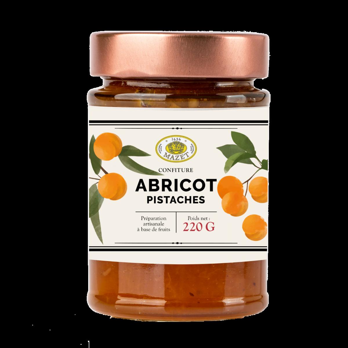 Confitures - Confiture abricot pistache 220g